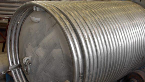 Shell en coil spiraal warmtewisselaar