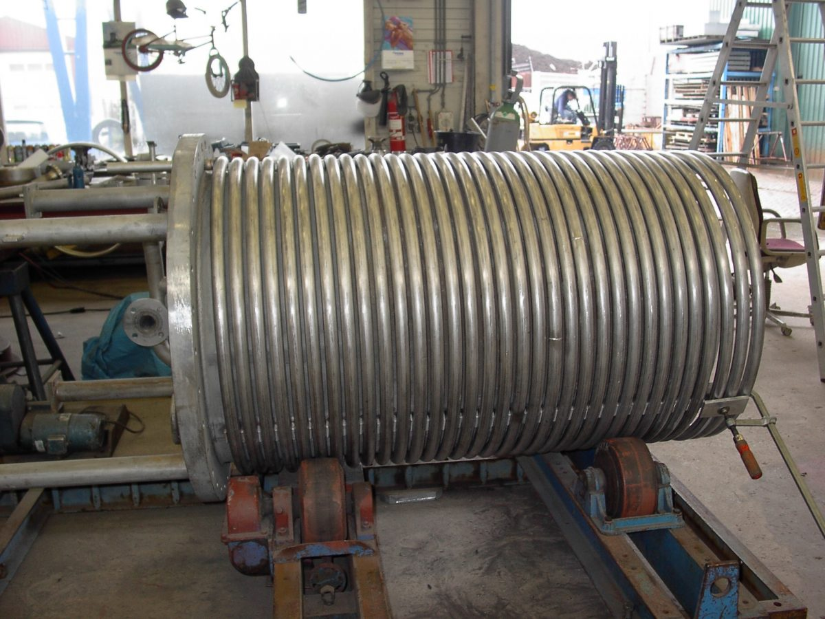 warmtewisselaar shell en coil spiraal