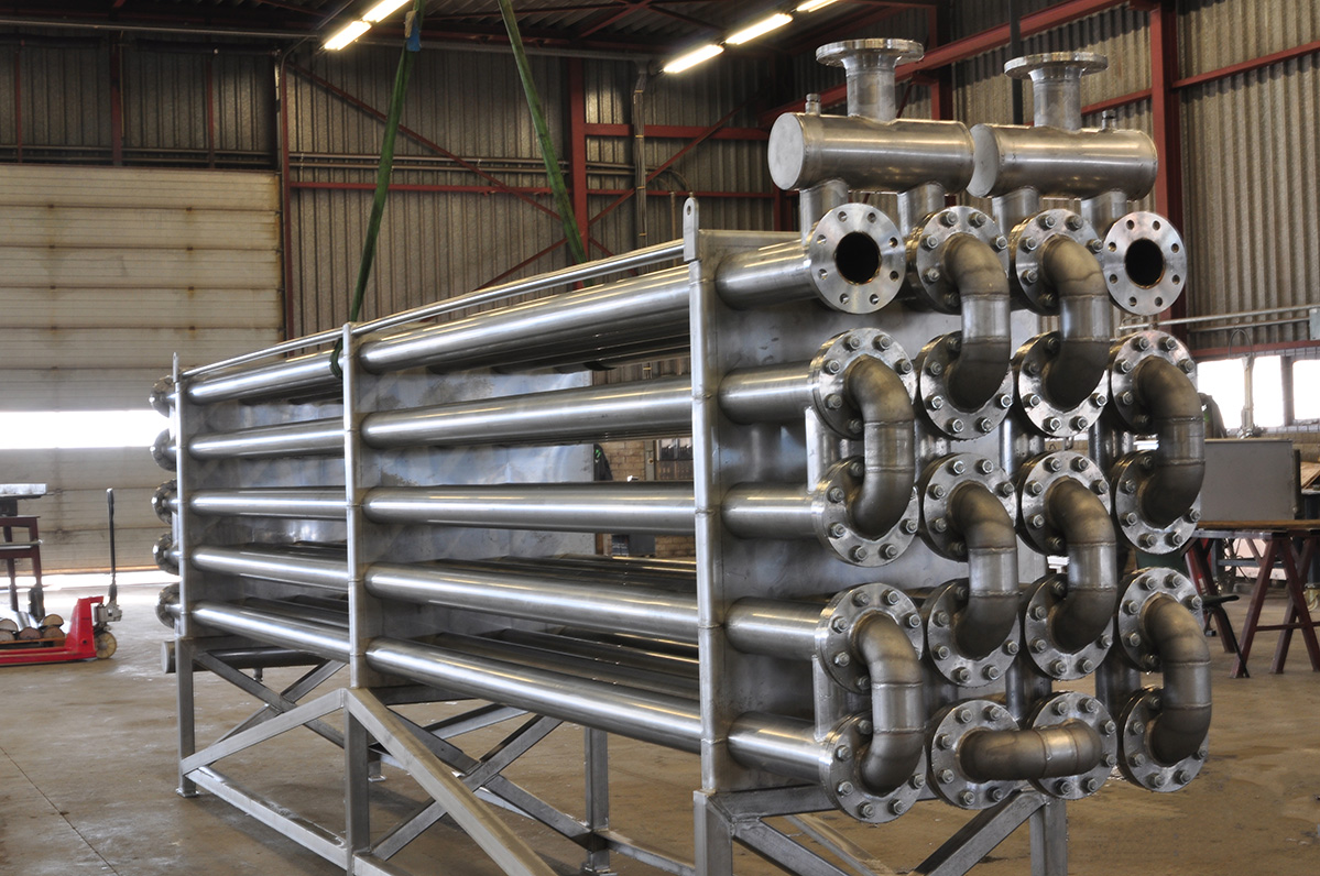 Gas heat exchanger for biofuel
