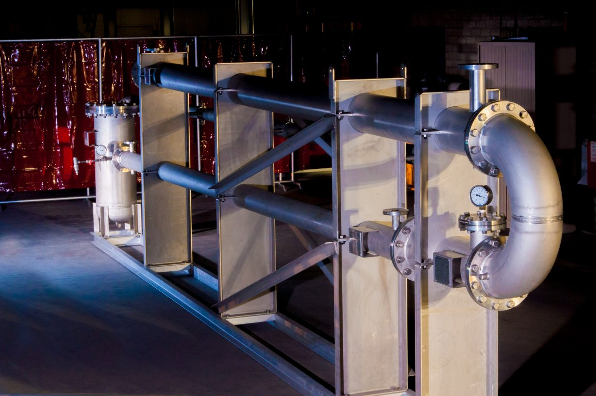 Biobrandstof warmtewisselaar