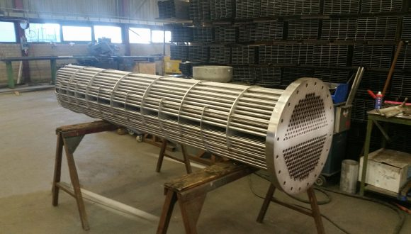 shell and tube heat exchanger production