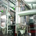 Economizer heat exchanger pre-heating the boiler feed water