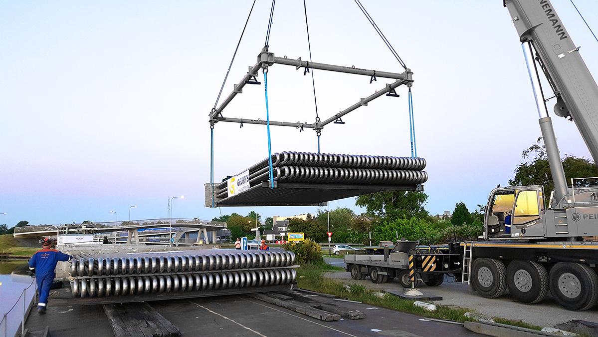 warmtewisselaar-bundels transport