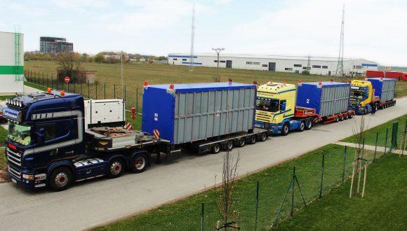 Luchvoorverwarmer transport