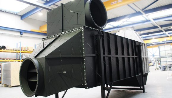 air preheater for a production plant of synthetic quartz glass