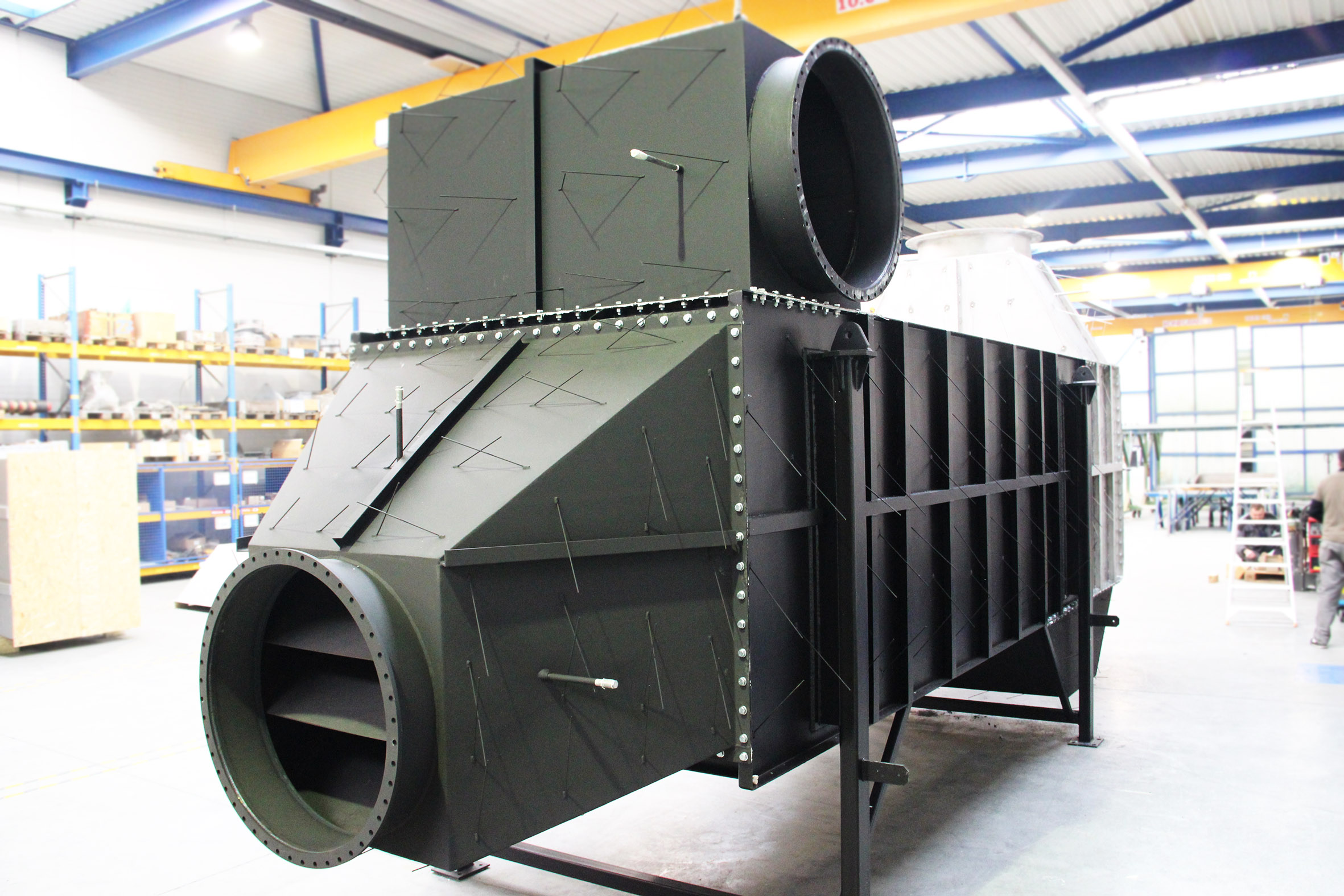 Air preheaters for quartz glass production plant
