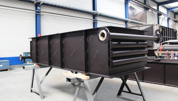 Gas-water heat exchanger for industrial boiler