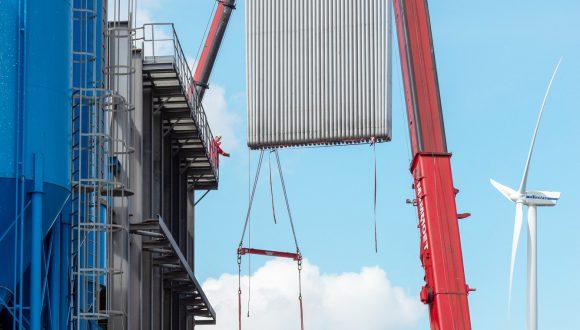 heat exchanger installation on-site
