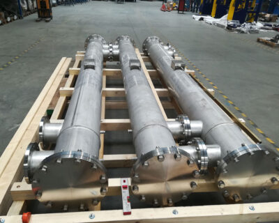 Delivery of 3 Shell & tube heat exchangers